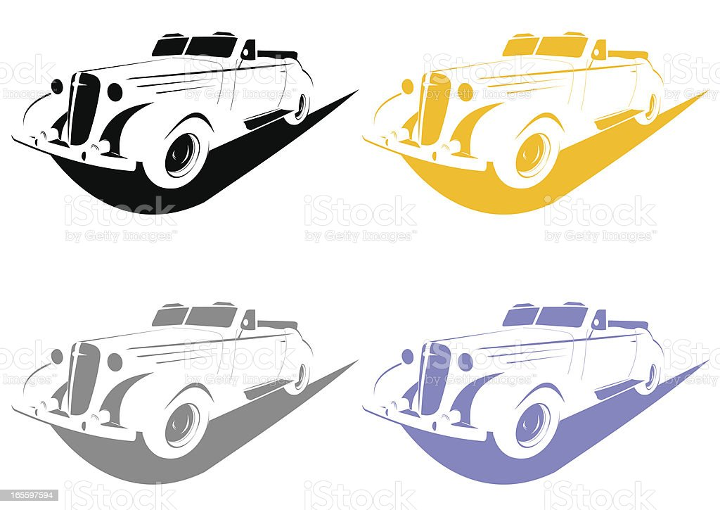 Stencil car royalty-free stencil car stock vector art & more images of 1950-1959
