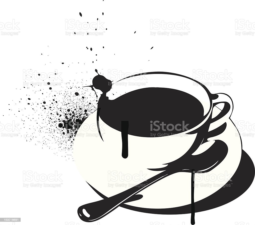 Stencil Coffee or Tea royalty-free stock vector art