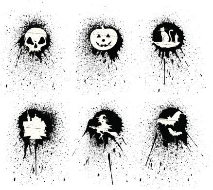 stencil halloween symbols