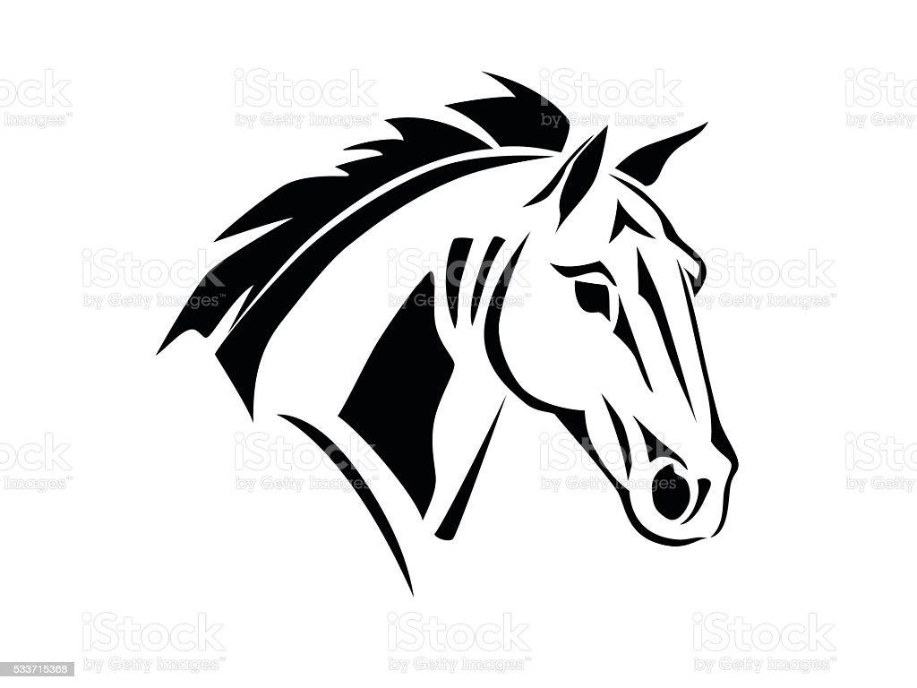 schablone pferdekopf seitenansicht stock vektor art und mehr bilder