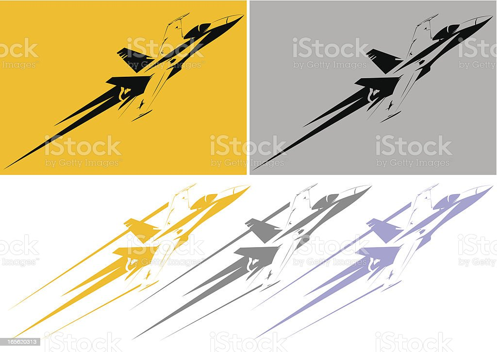 F-18 stencil vector art illustration