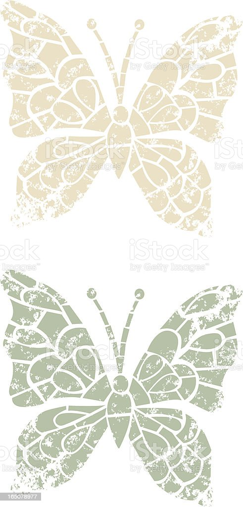 Stencilled butterfly royalty-free stock vector art