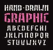 Stencil-plate sanserif font