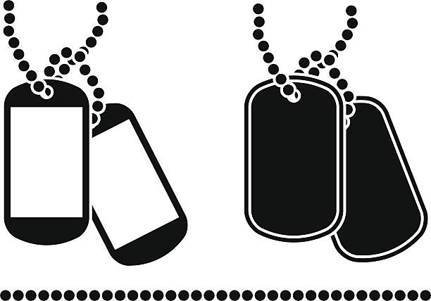 Royalty Free Military Dog Tag Clip Art Vector Images