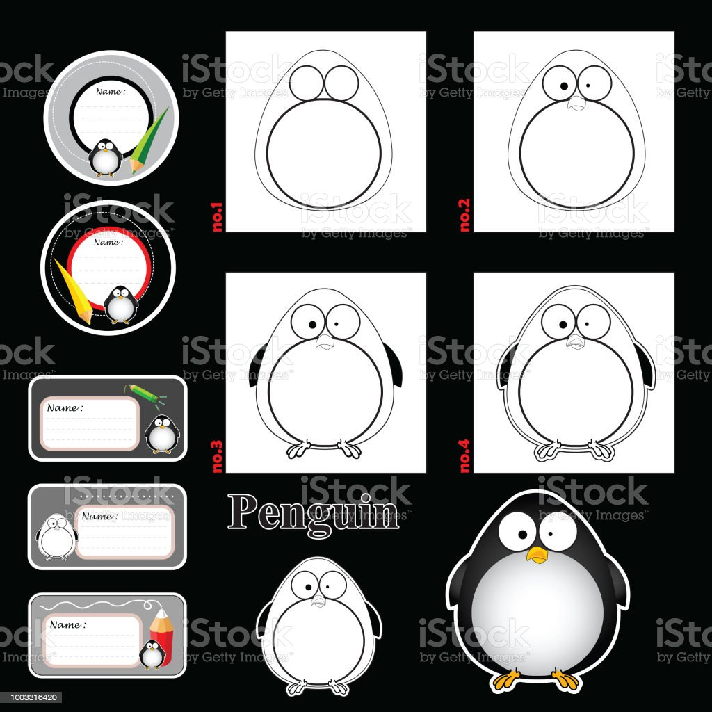 step by step drawing tutorial visual game for kidsfunny animals and rh  istockphoto com