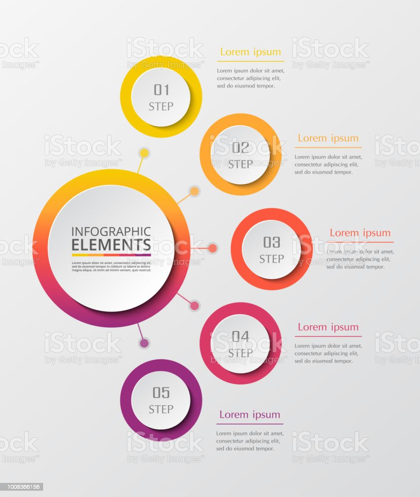 Step by step infographic. royalty-free step by step infographic stock illustration - download image now