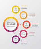 Vector business template for presentation. Abstract elements of graph, diagram and chart with 5 steps, options, parts or processes. Creative concept for infographic.