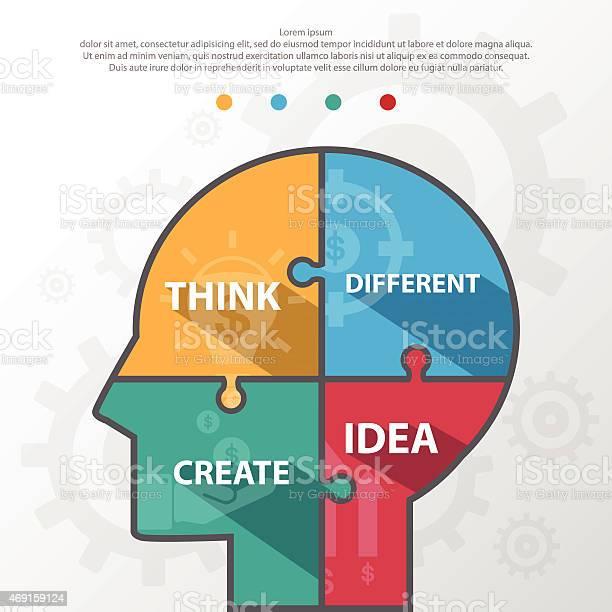 Step design of four part human idea infographic elementvectore vector id469159124?b=1&k=6&m=469159124&s=612x612&h=9itkiwinj9qfkafvwkkrlptpg 1vtkd319wcwqi x64=