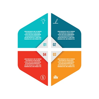 Infographic design template creative concept with 4 steps. 4 steps timeline infographic template with vector image