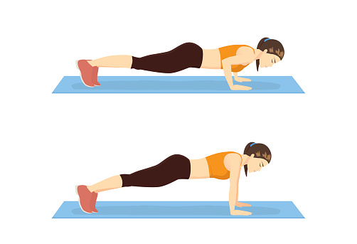 Step to instruction in push up