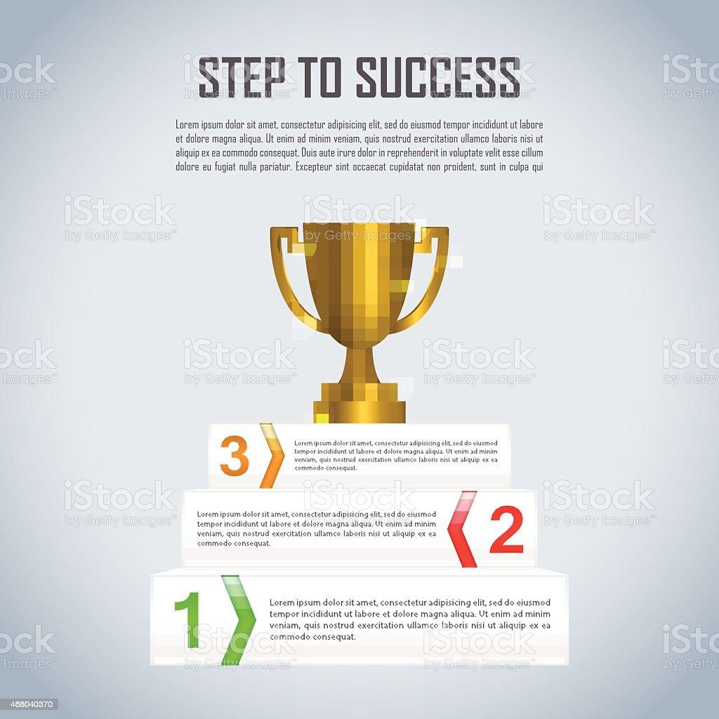 Ilustración de Paso De éxito Ganador Del Premio Trofeo Infografía ...