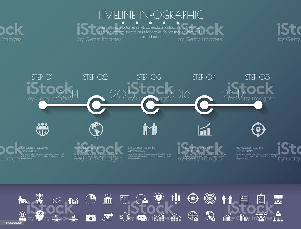 Stepdesign Flat Long Shadow Clean Number Timeline Templategraph ...
