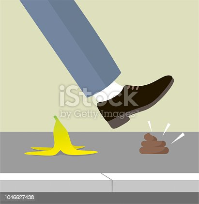 istock Stepping on shit 1046627438