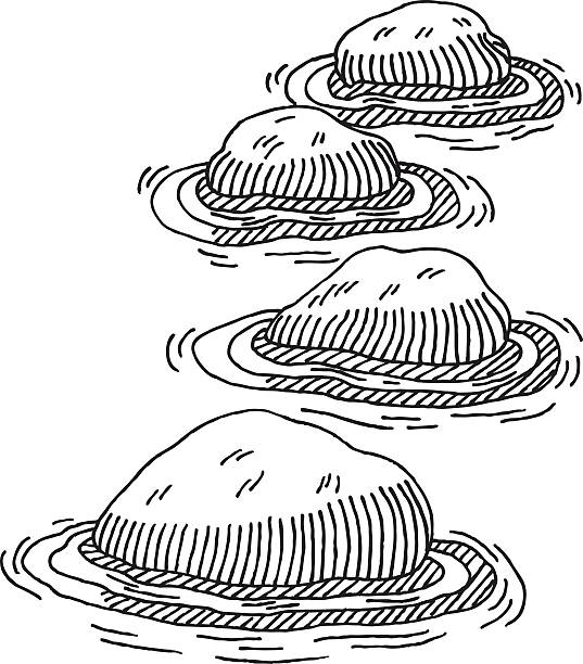 Stepping Stones Clip Art : Stone object clip art vector images illustrations istock