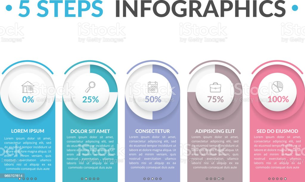 5 Steps Infographics - Royalty-free Abstract stock vector