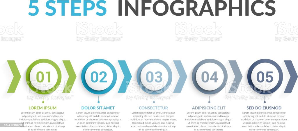5 Steps Infographics royalty-free 5 steps infographics stock illustration - download image now