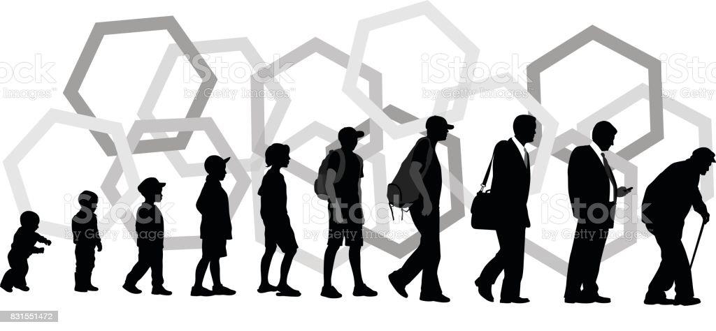 Steps Of Life vector art illustration