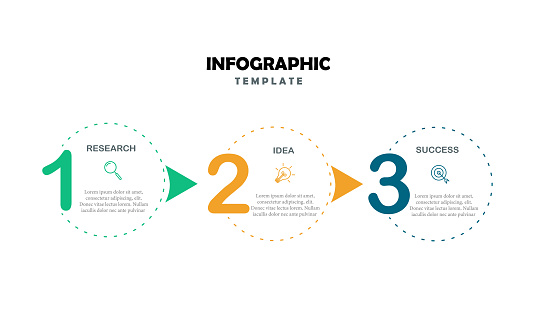 Steps Options Elements Infographic Template