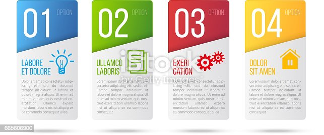 4 steps card infographic design vector and business marketing icons for workflow, diagram, milestones layout, web design or prints