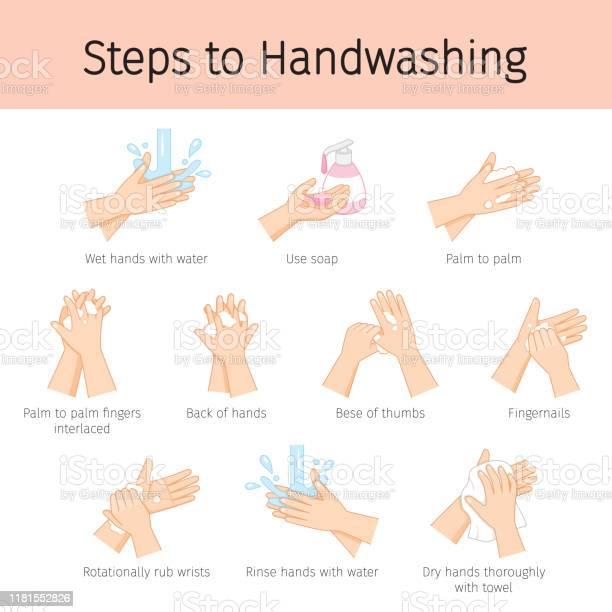 Vetores de As Etapas À Mão Que Lava Para Impedem A Doença E A Higiene Mantêm Seu Saudável e mais imagens de Anticorpo