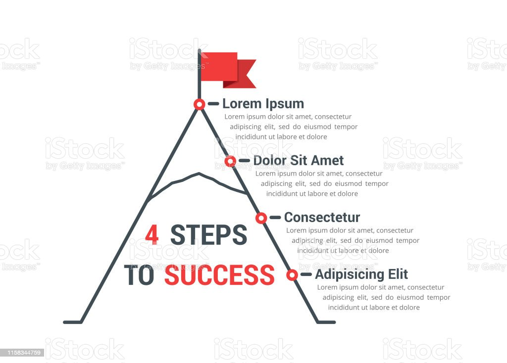 4 Steps To Success Stock Illustration Download Image Now Istock