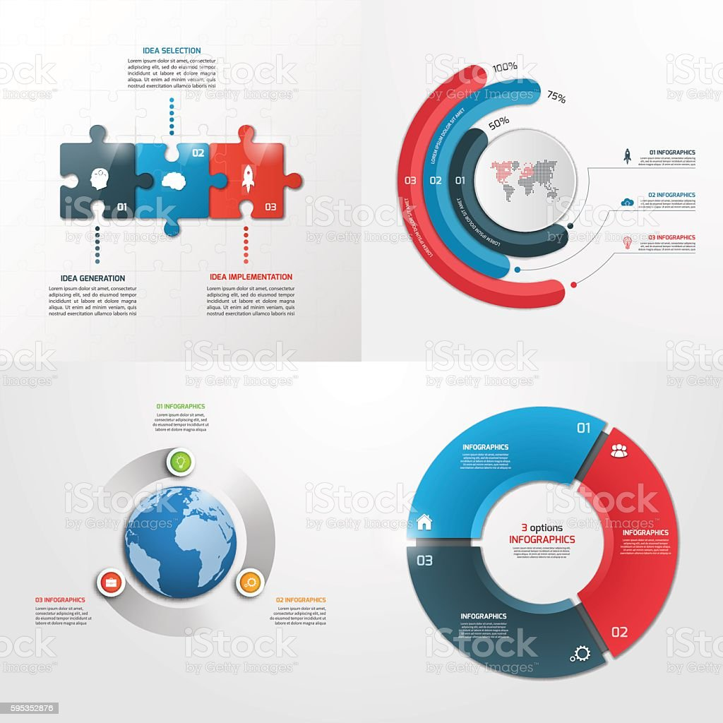 3 steps vector infographic templates. Business concept. vector art illustration