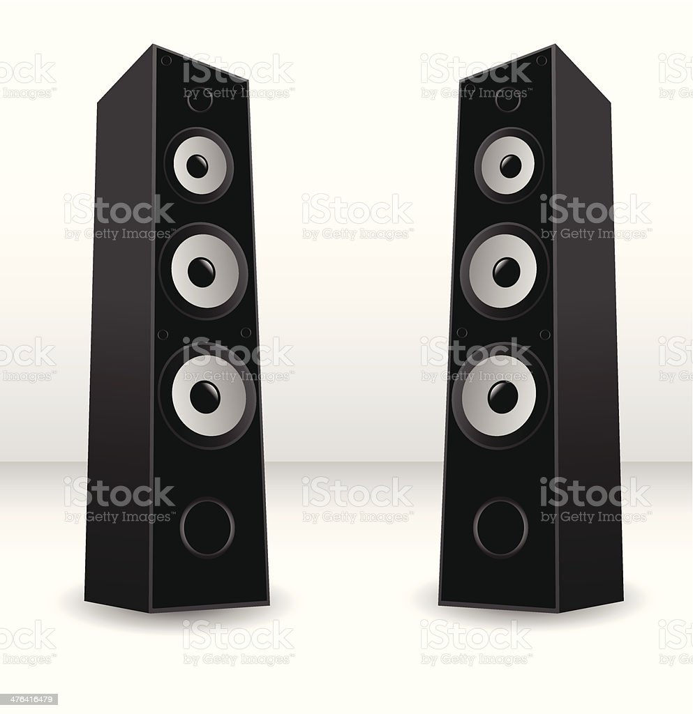 Stereo speaker vector art illustration