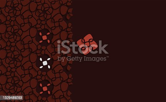 istock Stereoscopic abstract papercutting cutting style floral leaf pattern design background 1329489253