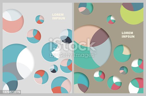 istock Stereoscopic Color Aperture Papercutting Textured Paper Effects Banner Pattern Backgrounds For Design 1329822279