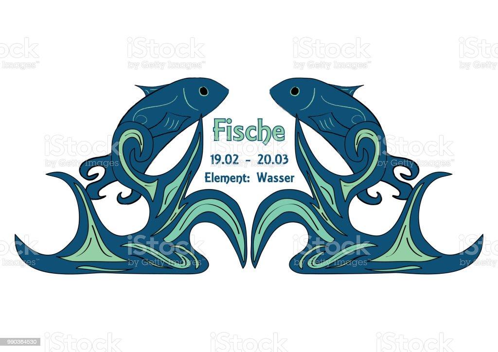 Sternzeichen Fisch – Vektorgrafik