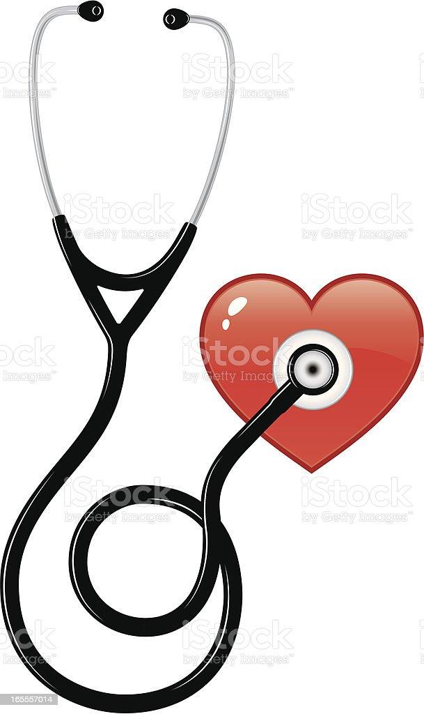 Stethoskop Und Herz Stock Vektor Art und mehr Bilder von ClipArt ...