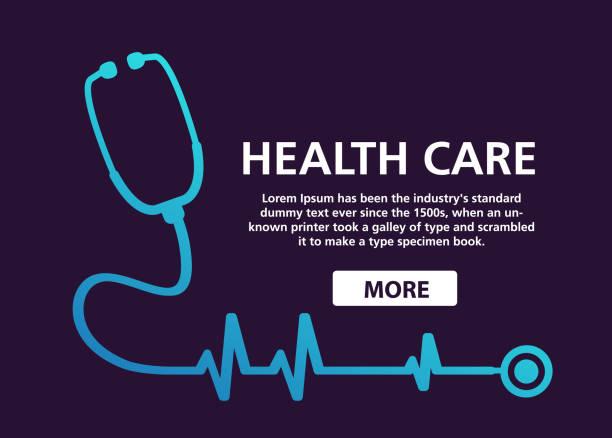 bildbanksillustrationer, clip art samt tecknat material och ikoner med stetoskop cardiology. hälso-och puls. hjärtat kardiogram. - kardiolog