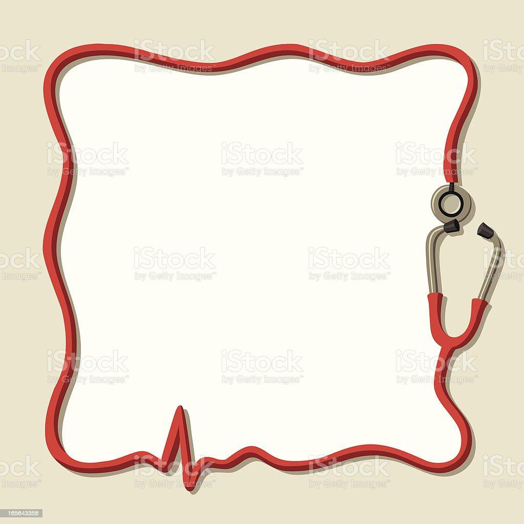 Stethoscope ECG Frame royalty-free stock vector art