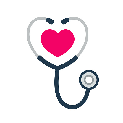 Stethoscope heart icon clipart