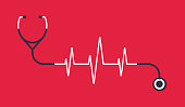 istock Stethoscope Heart Pulse Trace Concept Illustration 1277414175