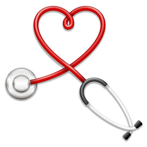 Stethoscope icon Vector 3d stethoscope-heart shape illustration stethoscope stock illustrations