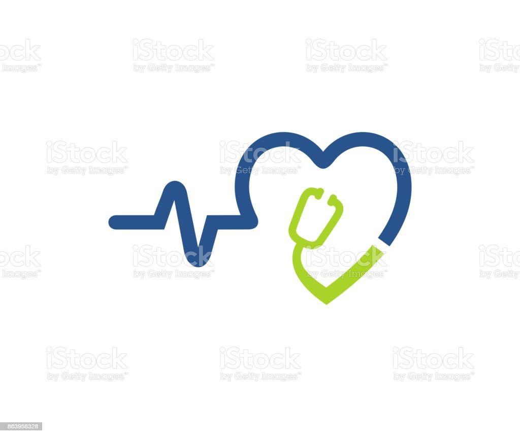 Stethoscope icon vector art illustration