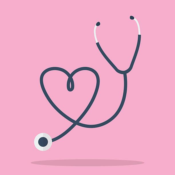 Stethoscope in Shape of Heart vector art illustration