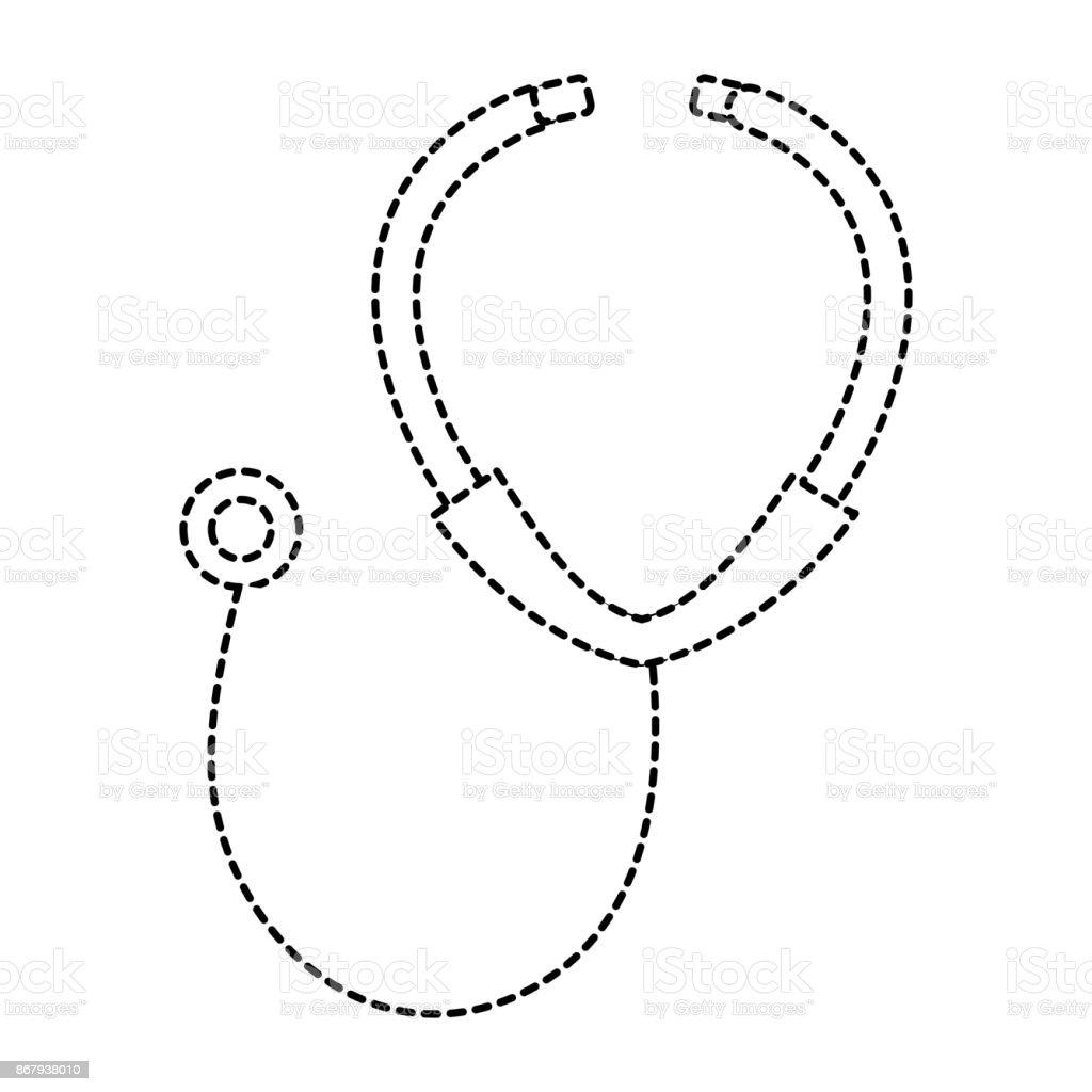 stethoscope medical isolated icon vector art illustration