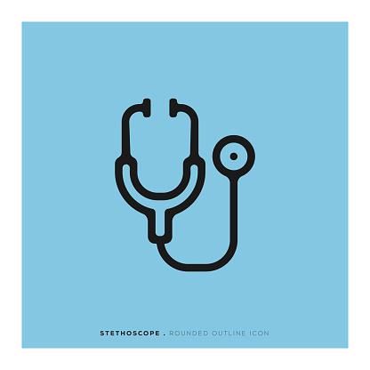 Stethoscope Rounded Line Icon