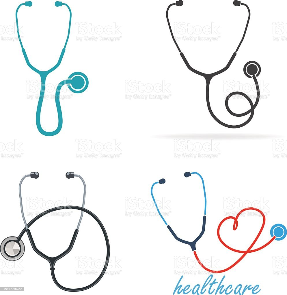 Stethoscope vector art illustration