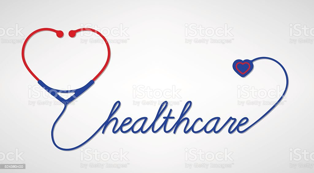 Stethoscope With Heart Medical Symbol Vector Stock Vector Art More