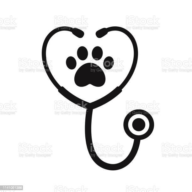 Stethoscope with paw print vector id1141051386?b=1&k=6&m=1141051386&s=612x612&h=adbjrwwr7xkaso3yvojt8e7zfxohd4cg7enjncoh1pm=