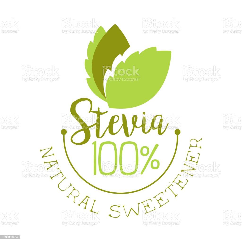 Stevia natural sweetener icon. Healthy product label vector Illustration royalty free stevia natural sweetener icon healthy product label vector illustration stockvectorkunst en meer beelden van blad