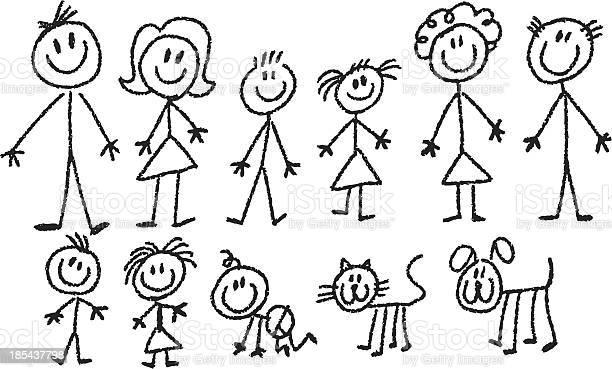 Stick family vector id185437798?b=1&k=6&m=185437798&s=612x612&h=qxpogggohl eslsmdwq1zf dljoejnxpetcxnvu4ja4=