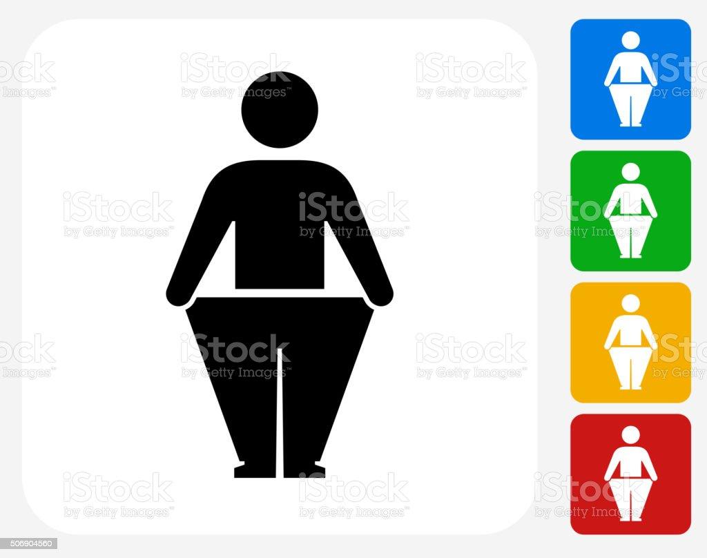 Strichmännchen und Gewicht Verlust-Symbol flache Grafik Design – Vektorgrafik