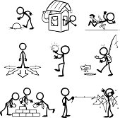 Stick Figure Business Themes
