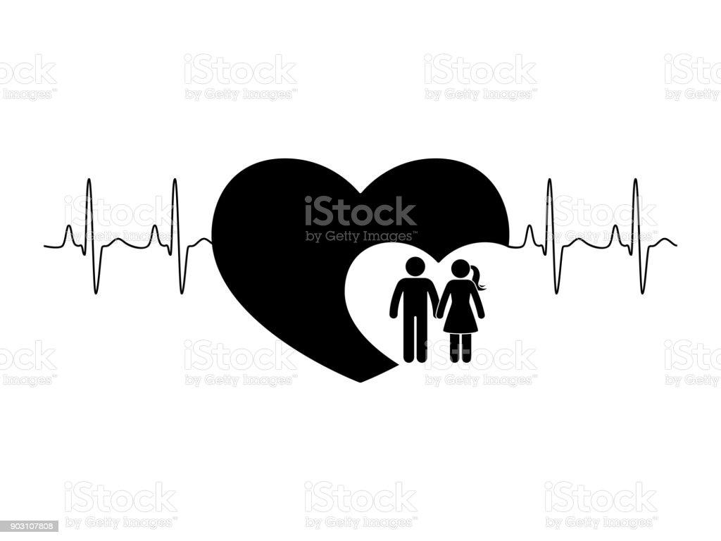 Ilustração De Casal De Boneco Homem E Mulher Apaixonada Namorado E