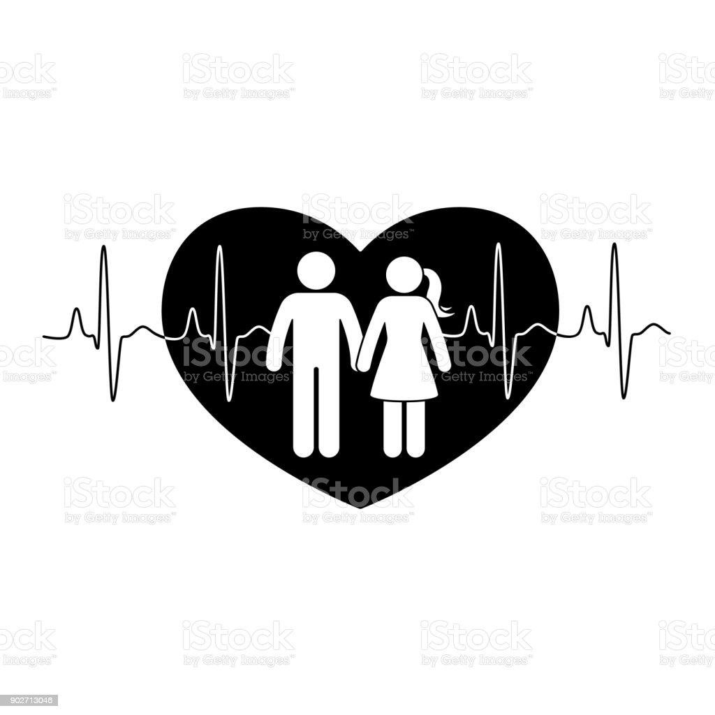 Ilustração De Casal De Boneco Homem E Mulher No Amor Ilustração