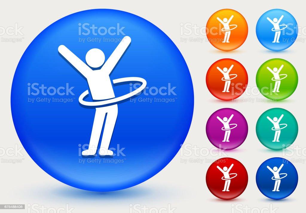 Çubuk şekli Hula parlak renk çemberi düğme simgesine doldurma royalty-free Çubuk şekli hula parlak renk çemberi düğme simgesine doldurma stok vektör sanatı & abd'nin daha fazla görseli